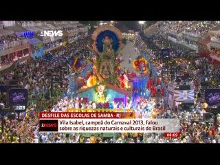 Seis escolas fecham os desfiles do Grupo Especial no Rio de Janeiro