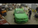 нанесение жидкой резины Rubber paint- BMW - зелёное яблоко!
