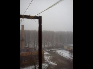 первая снежная гроза в Ефремове