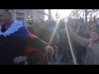 Столкновение антивоенного и имперского митингов в Ялте