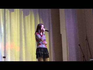Айшат Темербекова на конкурсе в Балдаурене. Боровое, 2014.