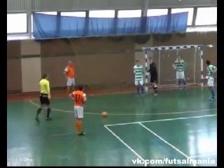 Хитрый розыгрыш штрафного со сменой мест - футзал мини-футбол futsal