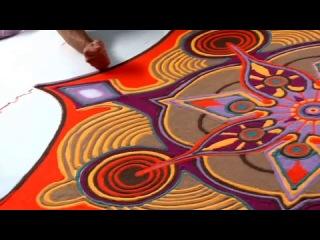 Картины из цветного песка: Джо Мангрум