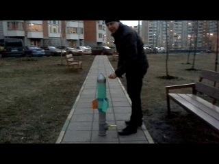 Самодельная ракета! Летает выше 12 этажа )))