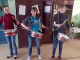репетиция барабанщиц