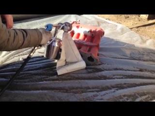 Абразивная очистка коллектора от порошковой краски пескоструйным набором Superмistral 50300