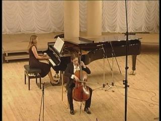 Denis Karachevtsev cello Anfisa Bobyliova piano Debussy cello sonata 1mvt