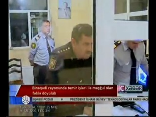 Bakıda döyülən fəhlə: