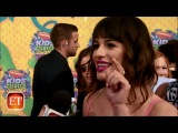 Lea Michele talks about getting ready for the Kids' Choice Awards