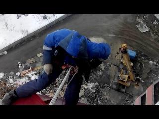 Монтаж Козырьков. Ямальский-2. Тюмень.