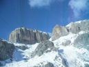 Италия.Доломиты.Окончание спуска со смотровой площадки Passo Pordoi 2950 m.