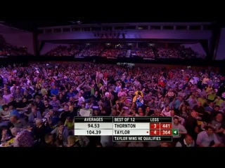 Robert Thornton vs Phil Taylor (2014 Premier League Darts / Week 15)