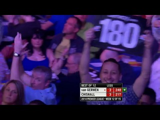 Michael van Gerwen vs Dave Chisnall (2014 Premier League Darts / Week 12)