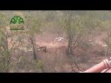 Сирия.Выстрел ССА из РПГ-7 по тачанке САА