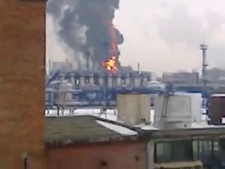 Взрыв на заводе синтетического каучука прогремел в омске