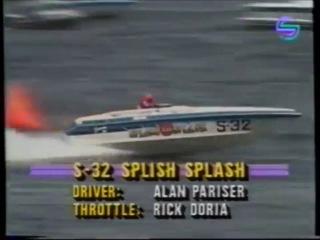 Чак Норрис и Курт Рассел на соревнованиях (скоростные катера)
