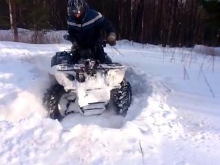 Stels ATV 500 GT против снега
