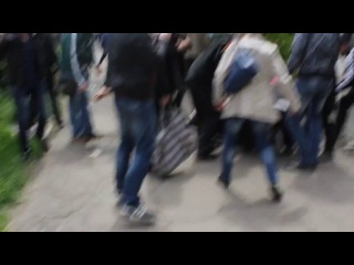 Массовые расстрелы мирных жителей. Мариуполь, Украина. (09.05.2014)