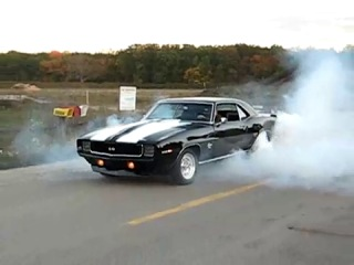 1969 camaro burnout