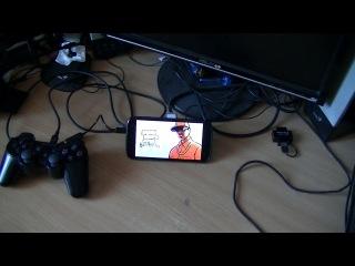Работа джостика от PS3 в GTA San Andreas на андроид.
