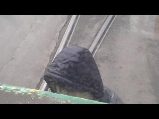 это мы ехали на тренеровку мы с Алексеем Маёровым в трамвае а кокин на колбасе