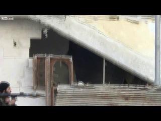 Война в Сирии неудачный выстрел боевика