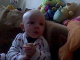 как свистит моя малышка.  8 месяцев