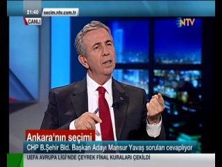 Mansur Yavaş  NTV Adaylar Konuşuyor Programı   21 Mart   Bölüm 2
