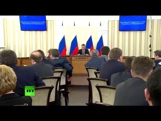 Медведев проводит совещание по развитию Крыма (Симферополь 31.03.2014)