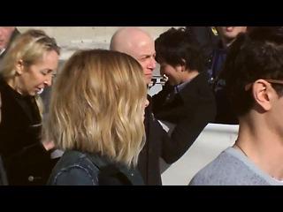 Kate MARA Max MINGHELLA à Paris 2014 Fashion Week Show Vuitton Mars March