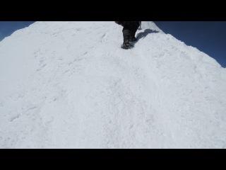 Последние метры восхождения на западную вершину Эльбруса 12.08.2014 г.