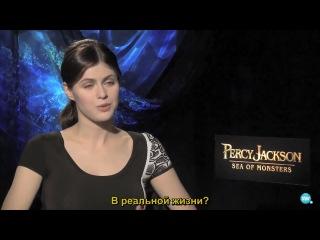 Интервью в рамках промо-тура «Моря Чудовищ» для ScreenWeek Tv [Русские субтитры]