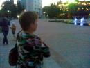 вечерний Туапсе цветной фонтан