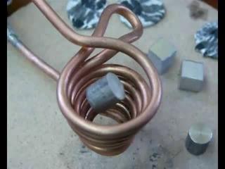Левитационная плавка металлов (прикол)