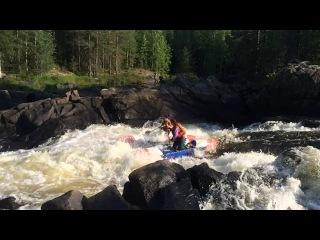 Река Охта, порог Кивиристи, Карелия, сплав