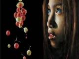 Indigo girl-10-летняя девочка рисует...