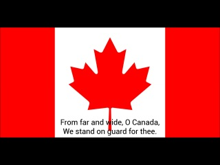 Государственный гимн Канады-Himno nacional de Canadá-National anthem of Canada-O Canada