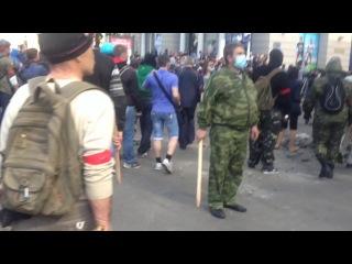4,5 часа противостояния  Одесса на Греческой 2.05.2014