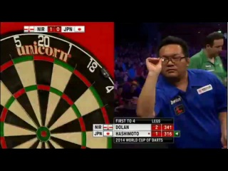 Northern Ireland vs Japan (PDC World Cup of Darts 2014 / Second Round)