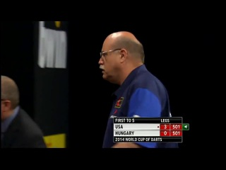 USA vs Hungary (PDC World Cup of Darts 2014 / First Round)