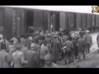 Повстанцы и батька Махно в 1919 году. Юг Украины. Кинохроника гражданской войны.