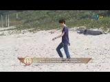 Cauã Reymond discute com Debora Falabella na praia