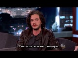 Jimmy Kimmel 2014 02 18 Kit Harington с субтитрами