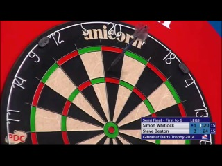 Simon Whitlock vs Steve Beaton (PDC Gibraltar Darts Trophy 2014 / Semi Final)