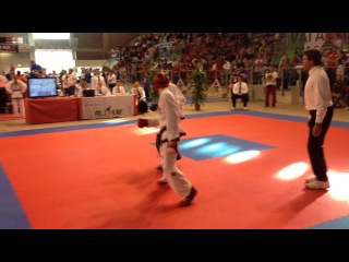 Jamie Williams (IRL) vs. Korolovych Vladyslav (UKR) - 57kg (2nd round)- Taekwon-do EC, Riccione (Italy) 2014