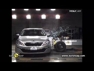 Краш-тест Пежо 308 ( Peugeot 308 ) 2014 года