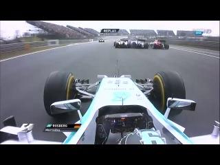 Çin GP startında Rosberg'in araç üstü görüntüleri