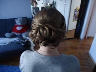 Работа Наталии Злобиной - свадебная прическа на короткие волосы