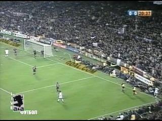 Чемпионат Испании 2000-01 / 6-й тур / Барселона - Реал Мадрид 1 тайм / НТВ+ [21.10.2000 г., Футбол, TVRip]