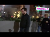 Tobey Maguire & Jennifer Meyer with Sara Gilbert & Linda Perry depart Crossroads LA (2014)